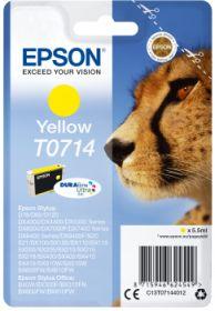 EPSON ORIGINAL - Epson T0714 Jaune Cartouche de marque