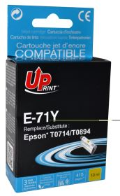 UPRINT - UPrint T0714 Jaune Cartouche remanufacturée Epson Qualité Premium