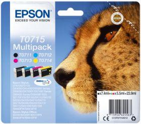 EPSON ORIGINAL - Epson T0715 Pack de 4 cartouches de marque (Noir, Cyan, Magenta, Jaune)