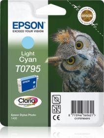EPSON ORIGINAL - Epson T0795 Cyan Clair Cartouche de marque