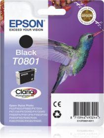 EPSON ORIGINAL - Epson T0801 Noir (7,4 ml) Cartouche de marque