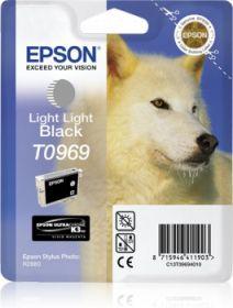 EPSON ORIGINAL - Epson T0969 Gris Clair (11,4 ml) Cartouche de marque