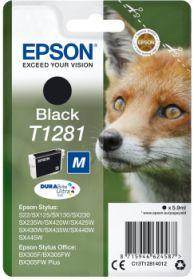 EPSON ORIGINAL - Epson T1281 Noir (5,9 ml) Cartouche de marque