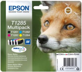 EPSON ORIGINAL - Epson T1285 Multipack de 4 cartouches