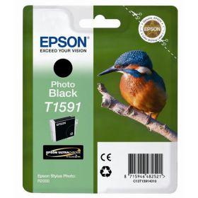 EPSON ORIGINAL - Epson T1591 Noir Photo (17 ml) Cartouche de marque