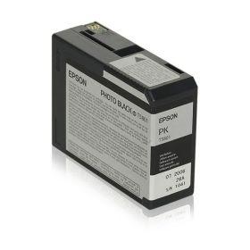 EPSON ORIGINAL - Epson T5801 Noir (80 ml) Cartouche de marque