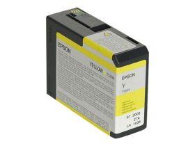 EPSON ORIGINAL - Epson T5804 Jaune (80 ml) Cartouche de marque