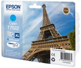 EPSON ORIGINAL - Epson T7022 XL cyan (2000 pages) Cartouche de marque