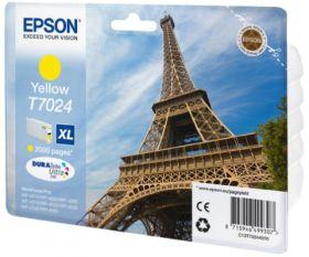 EPSON ORIGINAL - Epson T7024 XL jaune (2000 pages) Cartouche de marque