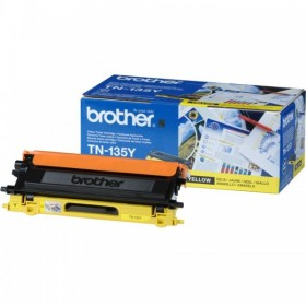 BROTHER ORIGINAL - Brother TN-135 Jaune (4000 pages) Toner de marque