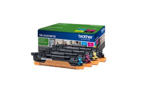 BROTHER ORIGINAL - Brother TN-243 CMYK Pack de 4 toners de marque (Noir, Cyan, Magenta, Jaune)