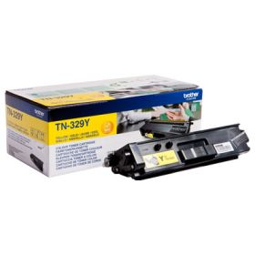 BROTHER ORIGINAL - Brother TN-329 Jaune (6000 pages) Toner de marque