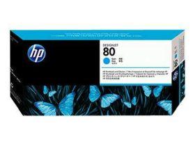 HP ORIGINAL - HP 80 / C4821A Cyan Tête impression et dispositif de nettoyage de marque