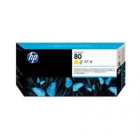 HP ORIGINAL - HP 80 / C4823A Jaune Tête impression et dispositif de nettoyage de marque