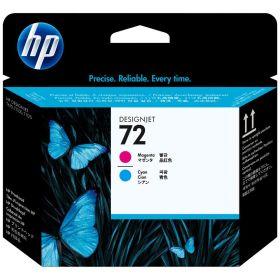 HP ORIGINAL - HP 72 / C9383A Cyan et Magenta - Tête d'impression de marque