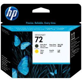 HP ORIGINAL - HP 72 / C9384A Noir Mat et Jaune - Tête d'impression de marque