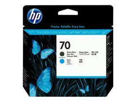 HP ORIGINAL - HP 70 / C9404A Cyan et Noir mat  - Tête d'impression de marque