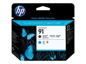 HP ORIGINAL - HP 91 / C9460A Cyan et Noir Mat  - Tête d'impression de marque