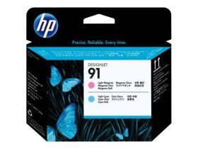 HP ORIGINAL - HP 91 / C9462A Cyan clair et Magenta clair  - Tête d'impression de marque