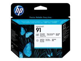 HP ORIGINAL - HP 91 / C9463A Noir Photo et Gris clair  - Tête d'impression de marque