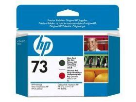 HP ORIGINAL - HP 73 / CD949A Tête d'impression Rouge chromatique et Noir mat