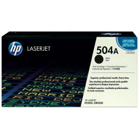 HP ORIGINAL - HP 504A / CE250A Noir (5000 pages) Toner de marque