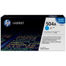 HP ORIGINAL - HP 504A / CE251A Cyan (7000 pages) Toner de marque