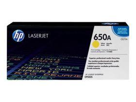 HP ORIGINAL - HP 650A / CE272A Jaune (15000 pages) Toner de marque