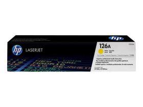 HP ORIGINAL - HP 126A / CE312A Jaune (1000 pages) Toner de marque
