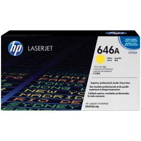 HP ORIGINAL - HP 646A / CF032A Jaune (12500 pages) Toner de marque