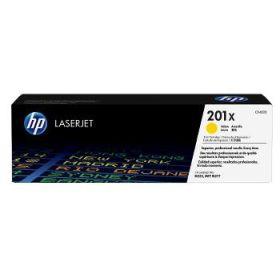 HP ORIGINAL - HP 201X / CF-402X Jaune (2300 pages) Toner de marque