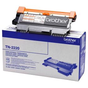 BROTHER ORIGINAL - Brother TN-2220 Noir (2600 pages) Toner de marque