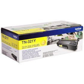BROTHER ORIGINAL - Brother TN-321 Jaune (1500 pages) Toner de marque