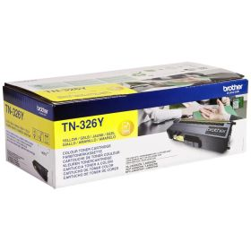 BROTHER ORIGINAL - Brother TN-326 Jaune (3500 pages) Toner de marque