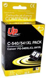 UPRINT - UPrint PG540XL Noire + CL541XL couleurs (25ml + 18ml) Pack de 2 cartouches remanufacturées Canon Qualité Premium