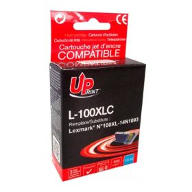 UPRINT/ QUALITE PREMIUM - UPrint 100XL Cyan cartouche compatible Lexmark Qualité Premium