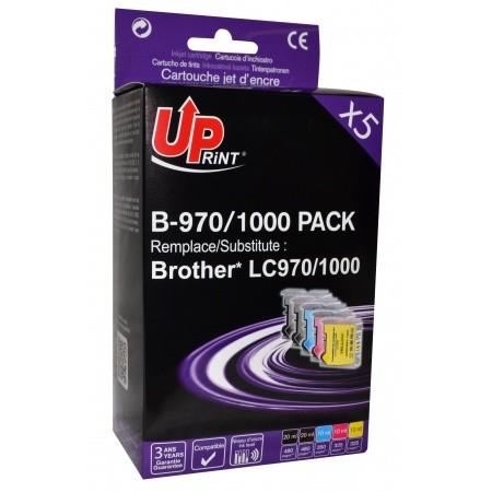 UPrint LC-970 / LC-1000 Pack de 5 Cartouches génériques