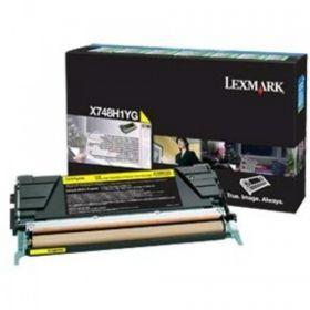 LEXMARK ORIGINAL - Lexmark X748H1YG Jaune (10000 pages) Toner de marque