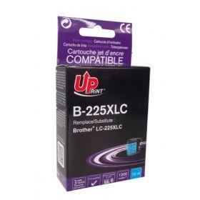 UPRINT - UPrint LC-225 XL Cyan (1200 pages) Cartouche compatible Brother Qualité Premium