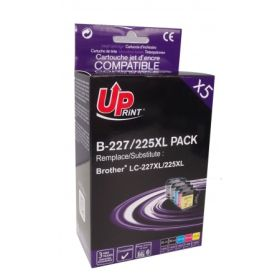 UPRINT/ QUALITE PREMIUM - UPrint LC-227 XL/ LC-225 XL Pack de 5 cartouches compatibles Brother Haute Qualité