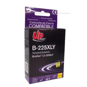 UPRINT - UPrint LC-225 XL Jaune (1200 pages) Cartouche compatible Brother Qualité Premium