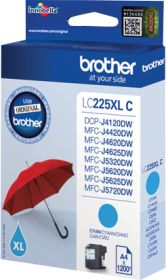 BROTHER ORIGINAL - Brother LC-225 XL Cyan (1200 pages) Cartouche de marque
