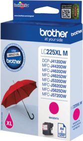 BROTHER ORIGINAL - Brother LC-225 XL Magenta (1200 pages) Cartouche de marque