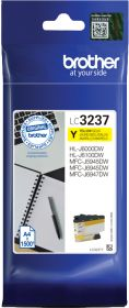 BROTHER ORIGINAL - Brother LC3237 Jaune (1500 pages) Cartouche de marque