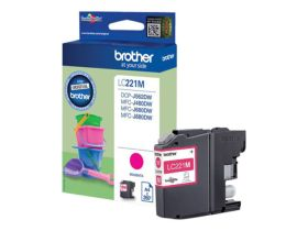 BROTHER ORIGINAL - Brother LC-221 Magenta (260 pages) Cartouche de marque