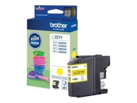 BROTHER ORIGINAL - Brother LC-221 Jaune (260 pages) Cartouche de marque