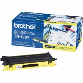 BROTHER ORIGINAL - Brother TN-130 Jaune (1500 pages) Toner de marque
