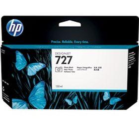 HP ORIGINAL - HP 727 / B3P23 Noir Photo (130 ml) Cartouche de marque