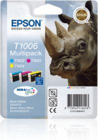 EPSON ORIGINAL - Epson T1006 Multi Pack de 3 Cartouches Cyan, Magenta, Jaune