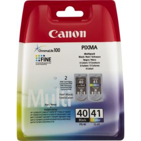 CANON ORIGINAL - Canon PG40 / CL41 Pack de 2 cartouches noire + couleur 0615B043